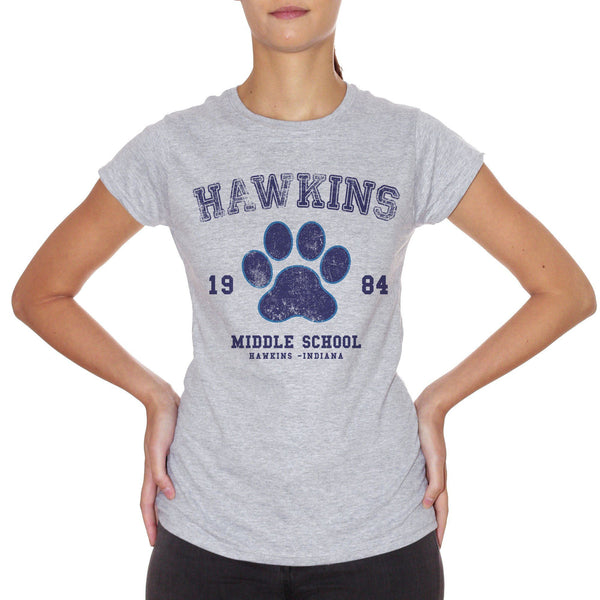 T-Shirt Hawkins Middle School 184- Stranger Things - FILM Choose ur color