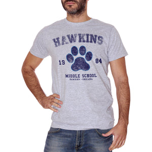 Gray T-Shirt Hawkins Middle School 184- Stranger Things - FILM Choose ur color CucShop