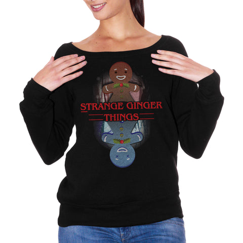 Black FELPA FASHION DONNA STRANGER THINGS CHRISTMAS CucShop