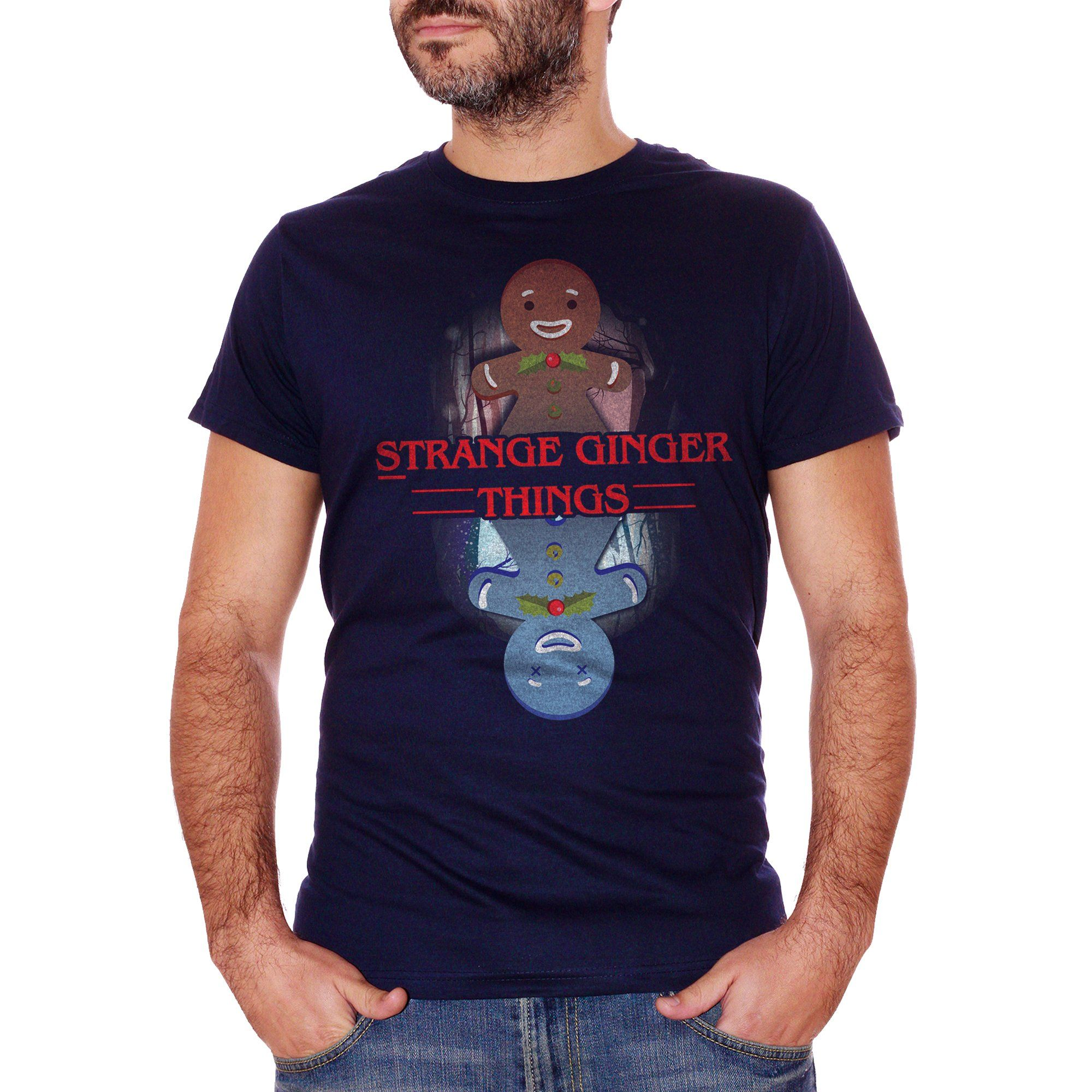 Black T-Shirt Stranger Things Christmas - FILM Choose ur color CucShop
