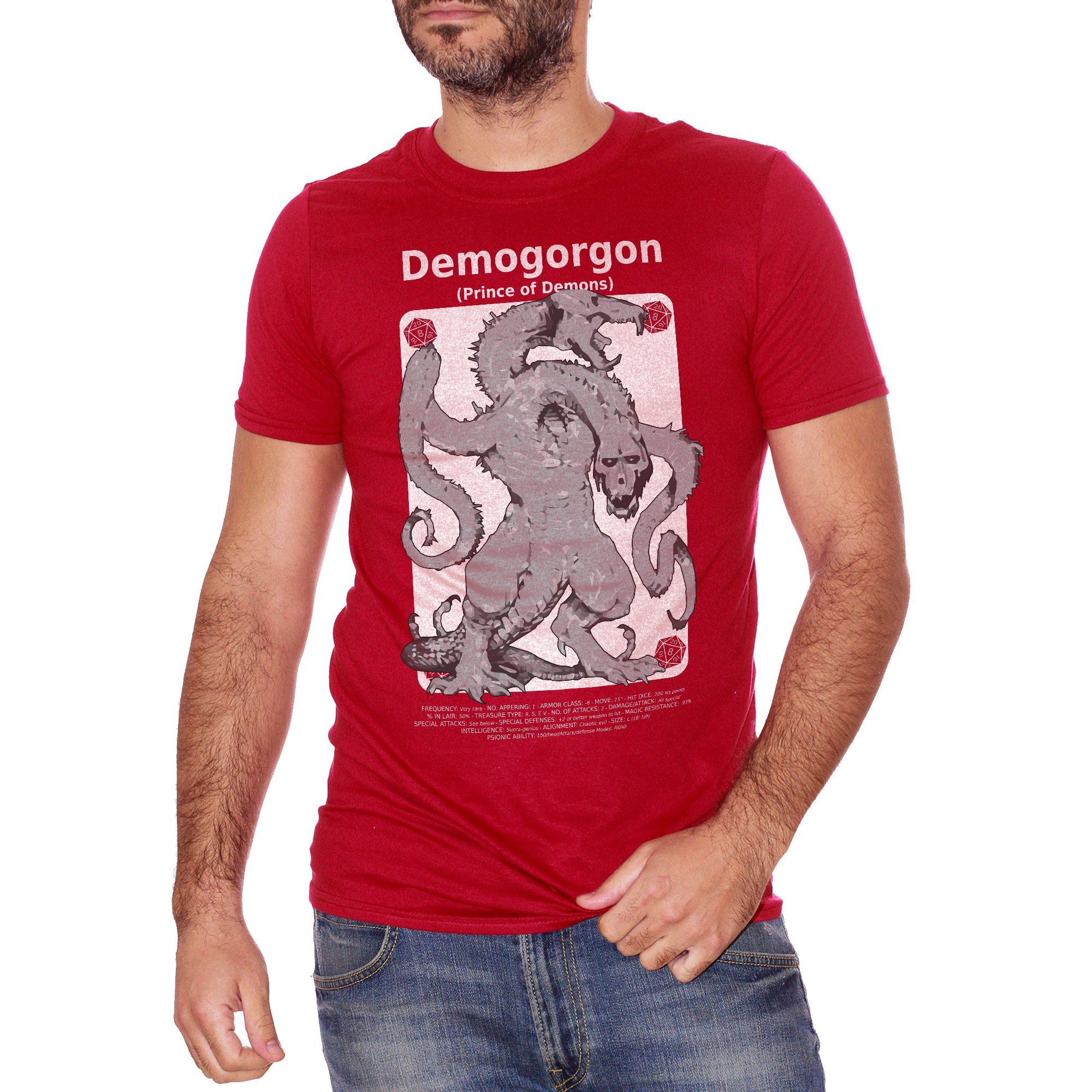 T-Shirt Demogorgon D&D - Stranger Things - FILM Choose ur color