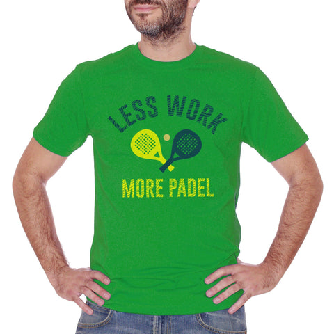 Forest Green T-Shirt Less Work More Padel Sport  - SPORT CucShop