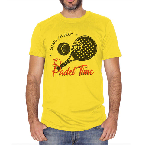 Gold T-Shirt T Shirt Sorry I'M Busy Its Padel Time Sport Tennis Sport Divertente  - SPORT CucShop