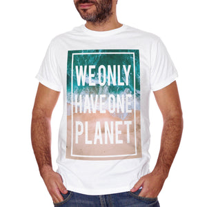 T-Shirt We Only Have One Planet Nature Sea Summer Water - SOCIAL