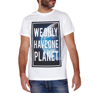 T-Shirt We Only Have One Planet Earth Nature Space World - SOCIAL - CUC #chooseurcolor