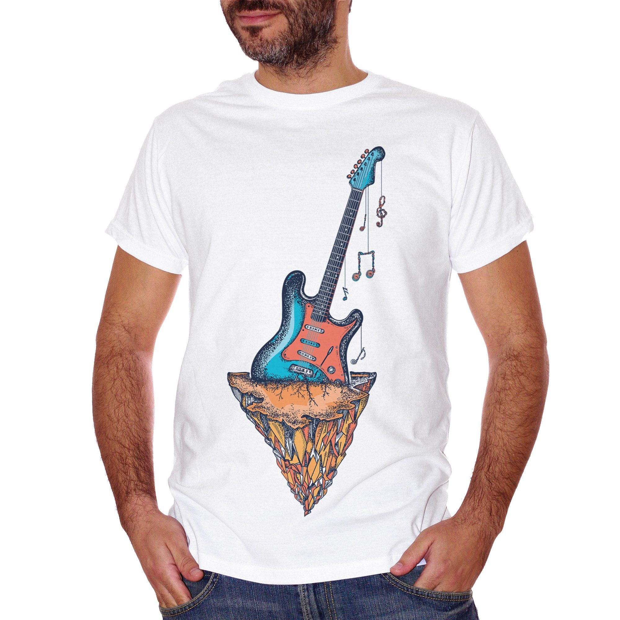Rosy Brown T-Shirt Guitar - MUSIC CucShop