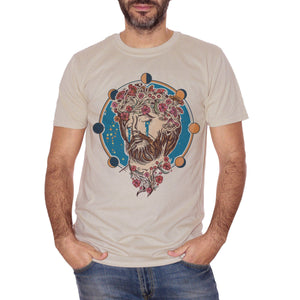 T-Shirt Jesus Strange Fan Art | Corona Di Fiori | Fasi Lunari Lacrime Fashion | Traditional Tattoo | Choose Ur Color - FAMOSI