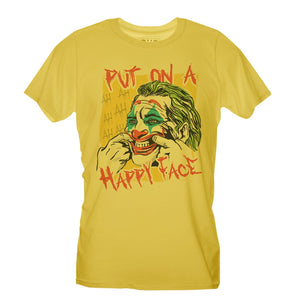 Sandy Brown T-Shirt Joker Face - Put on a happy face - Choose ur Color CucShop