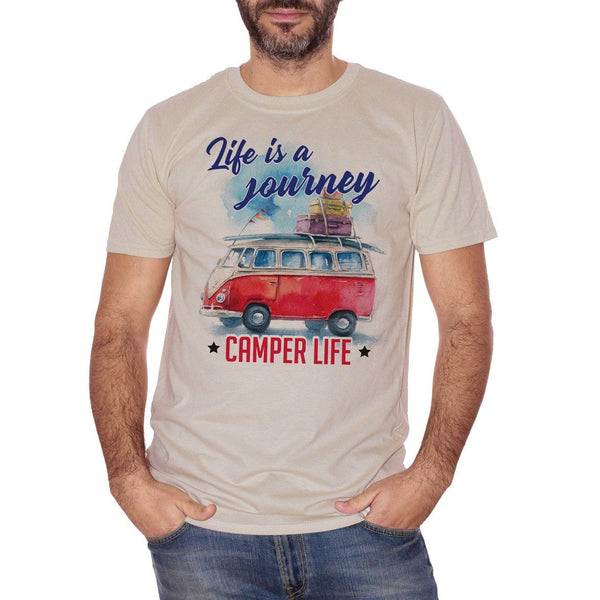 T-Shirt Life is a Journey - La vita è un Viaggio - Camper Life - Choose Ur Color