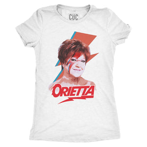 Firebrick T-Shirt Orietta like Bowie Sanremo 2021 - Trash Italiano - MUSIC Choose ur color CucShop