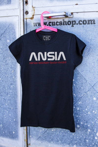 T-Shirt Ansia Nasa - Xanax Lexotan Rivotril - Grafica divertente - Choose Ur Color - CUC #chooseurcolor
