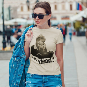 Gray T-Shirt Signora Fletcher Telefono. Who Is Dead - FILM Choose ur color CucShop