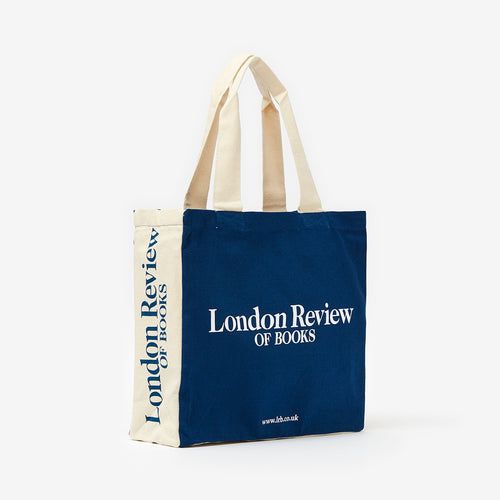 London Review of Books Blue Canvas Eco Tote Bag