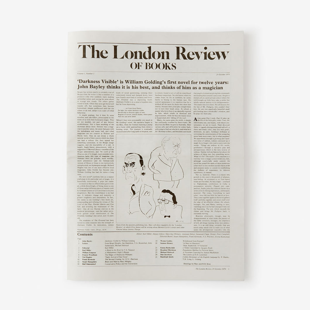 LRB First Issue Facsimile, October 1979