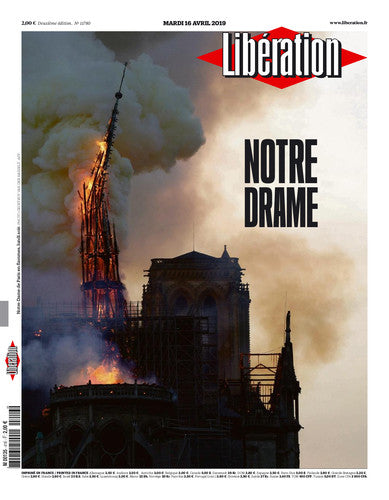 Notre drame.  Incendie de Notre-Dame. / The New York Times. 16 avril 2019
