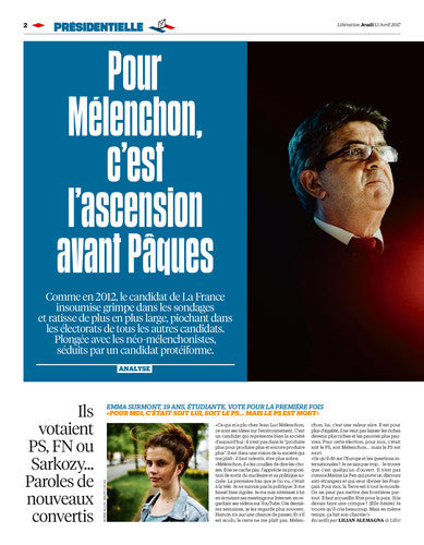 Le moment Mélenchon. 13 avril 2017