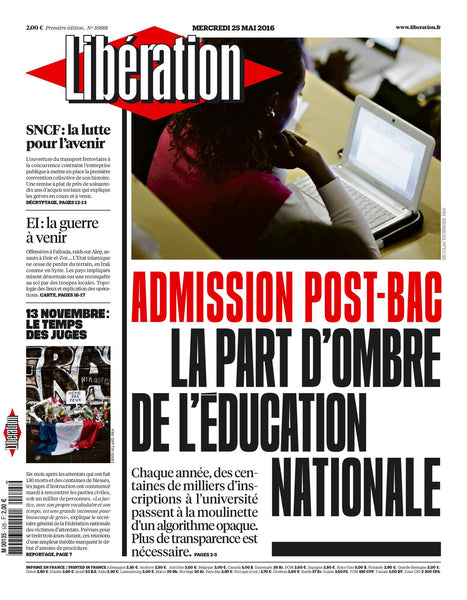 "Admission post-bac : La part d'ombre de l""Education Nationale. 25 mai 2016"