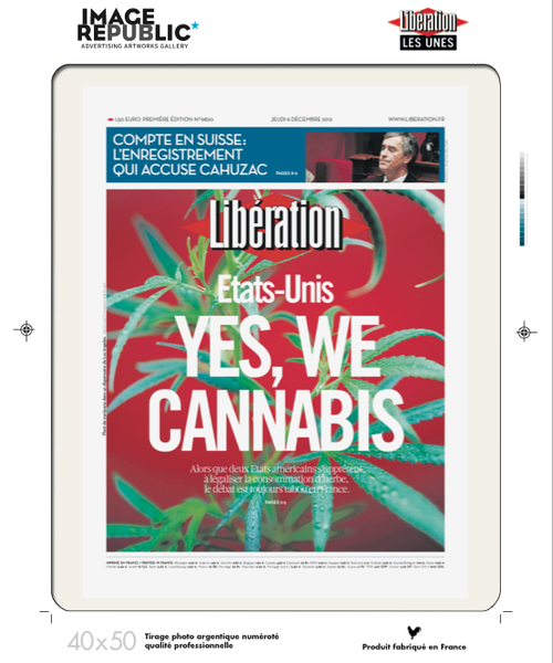 40x50 cm - Yes We Cannabis - Tirage photographique professionnel
