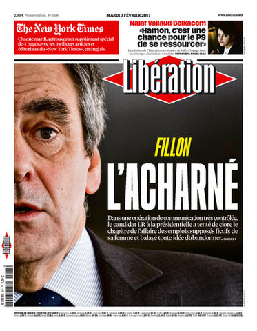 Fillon : l'acharné. / The New-York Times 4 pages. 07 février 2017