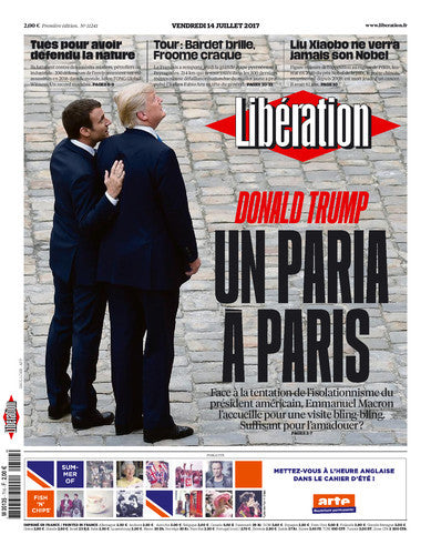 Donald Trump : un paria à Paris. 14 juillet 2017