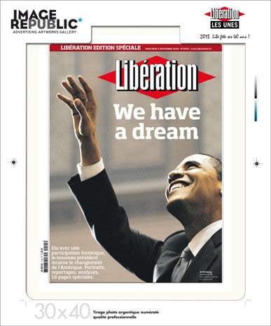 Une 30x40 cm - We have a dream/Barack Obama - Tirage photographique professionnel 19,5x26cm