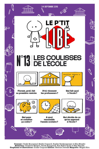 Version PDF. LES COULISSES DE L'ÉCOLE - Septembre 2016