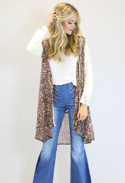 JUDITH MARCH DITSY FLORAL DUSTER