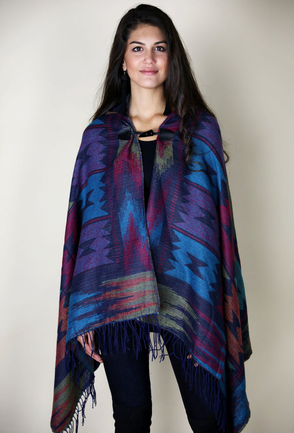 LEGENDS OF THE FALL PONCHO - NAVY