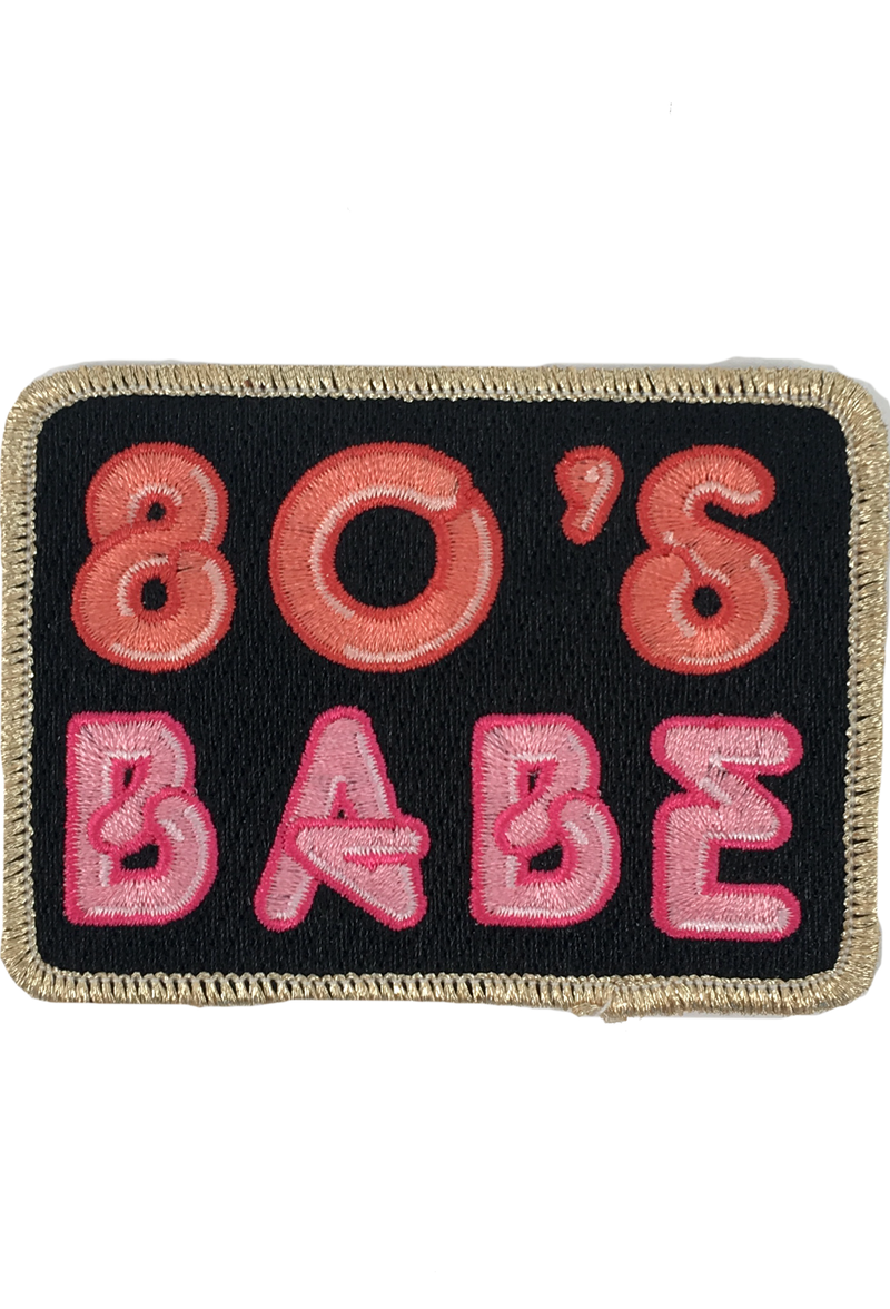 80'S BABE PATCH - GREY
