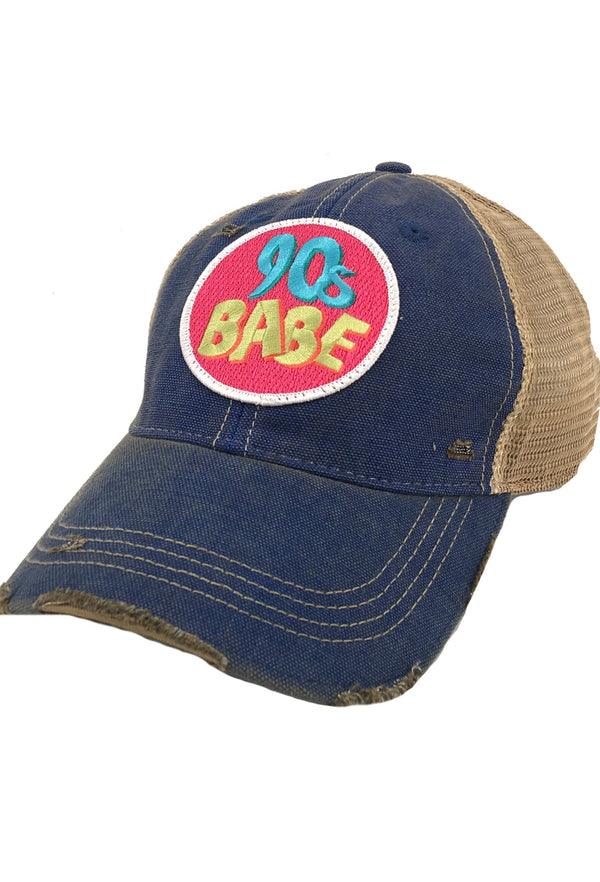 90's Babe Patch - Blue
