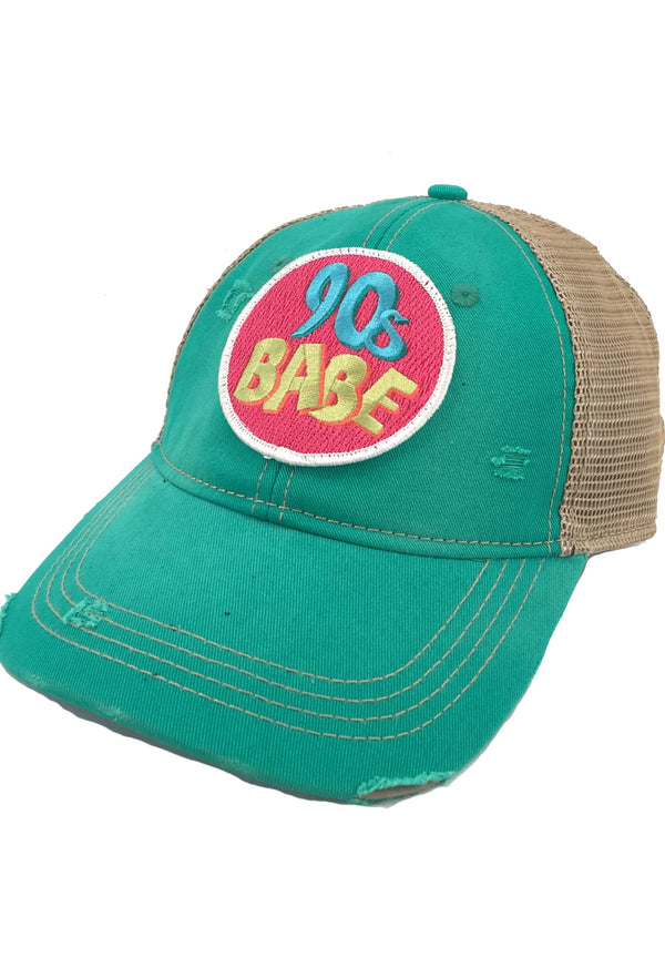 90's Babe Patch - Seagreen