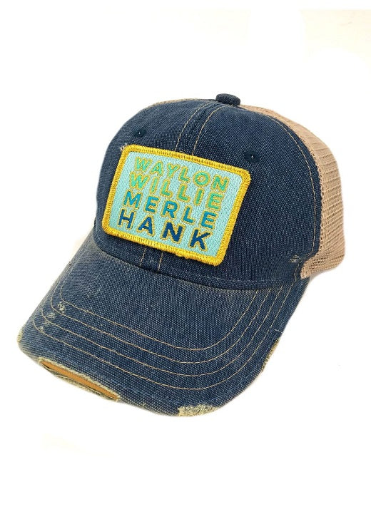 JUDITH MARCH GOLD COUNTRY LEGENDS PATCH - BLUE HAT