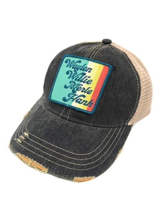 Vintage Stripe Country Legends- Navy