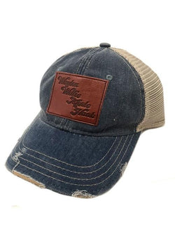 JUDITH MARCH LEATHER COUNTRY LEGENDS PATCH - BLUE HAT – DejaVu b30fa497a62