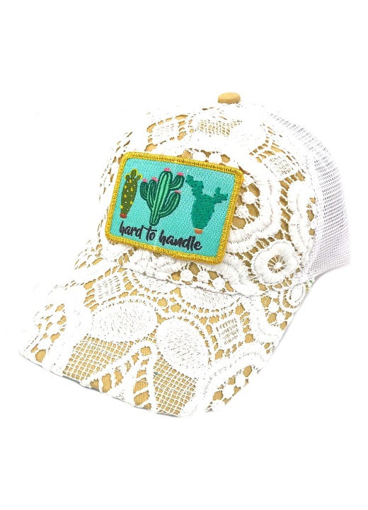 JUDITH MARCH HARD TO HANDLE CACTUS PATCH - CROCHET HAT