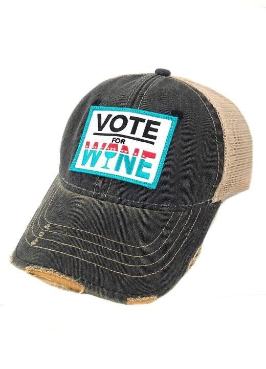 Judith March Vote for Wine Hat - Navy