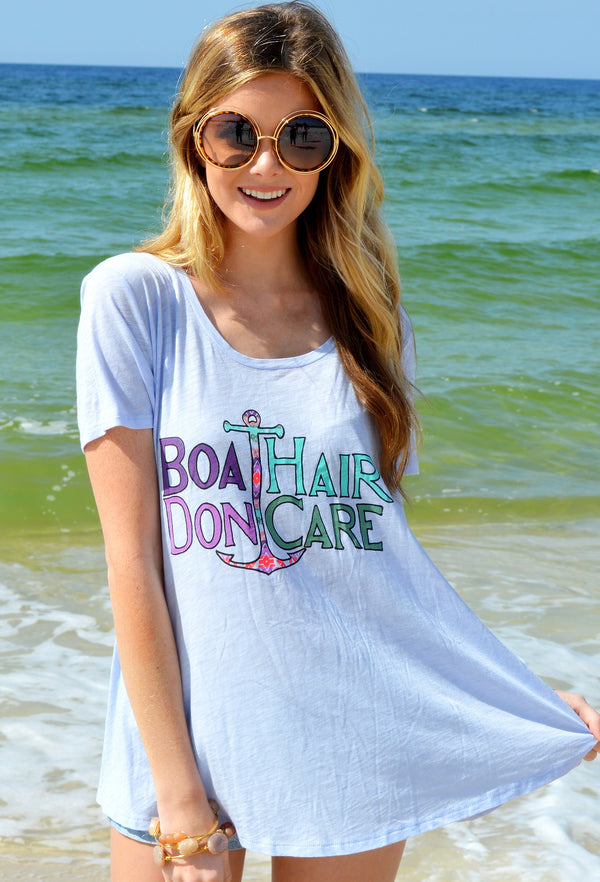 JUDITH MARCH BOAT HAIR DON'T CARE ANCHOR TEE