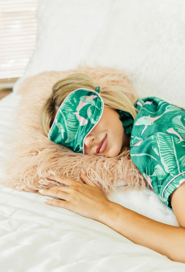 Banana Leaf Satin Eye-mask