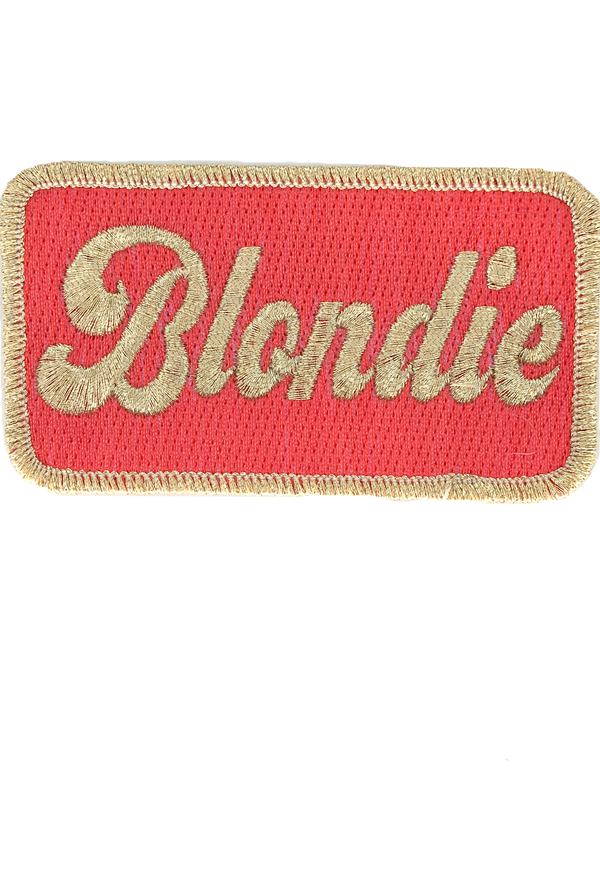 JUDITH MARCH METALLIC BLONDIE PATCH - ROYAL BLUE