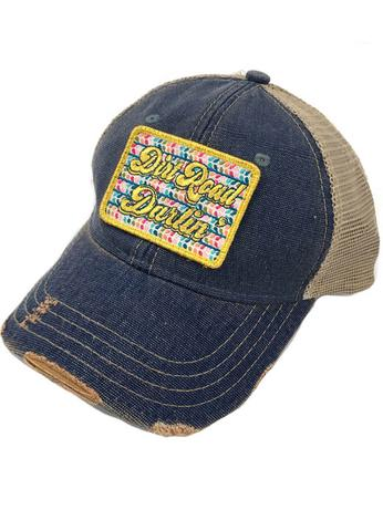 JUDITH MARCH DIRT ROAD DARLIN PATCH - BLUE HAT