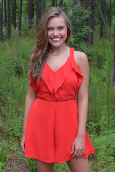 CHERRY RED ROMPER