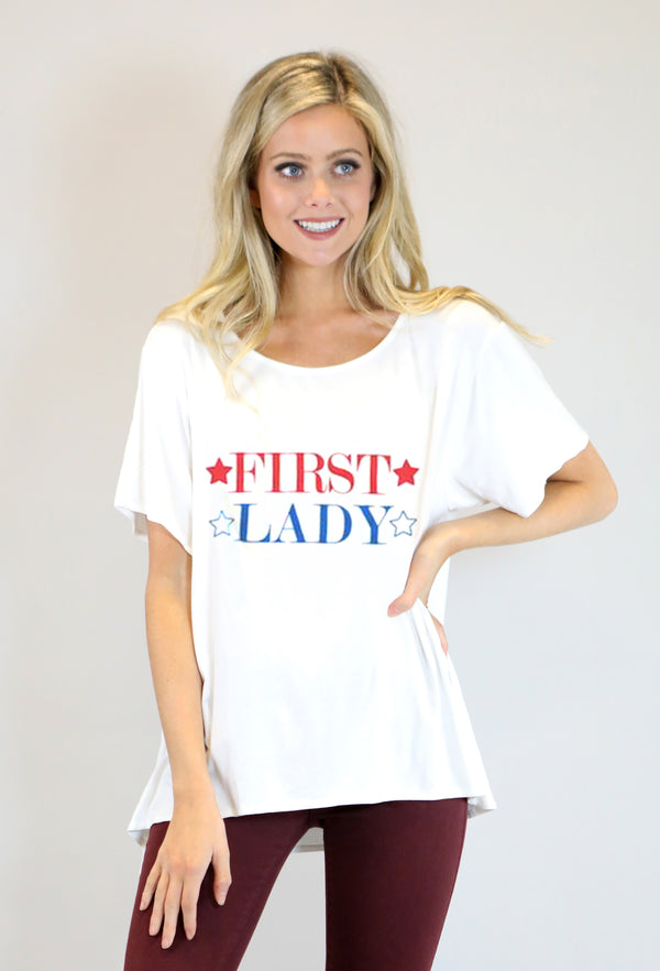 JUDITH MARCH FIRST LADY TEE