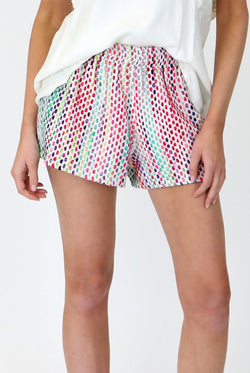 FunFetti Jacquard Tweed Shorts