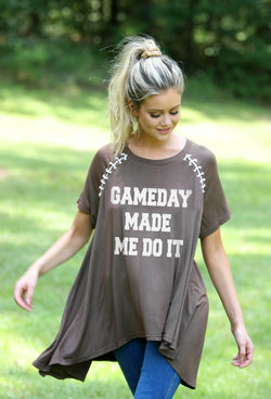 Gameday Made Me Do It Raglan Tee