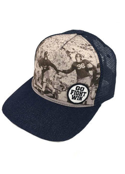 Vintage Football Snap Back- Denim
