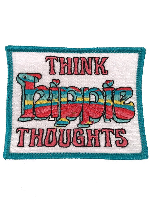 JUDITH MARCH THINK HIPPIE THOUGHTS PATCH - NAVY HAT