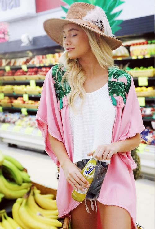 TROOP PALM SPRINGS BLUSH KIMONO