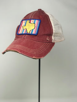 Mexican Embroidered Texas- Red