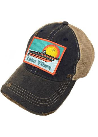 JUDITH MARCH LAKE VIBES PATCH - NAVY HAT