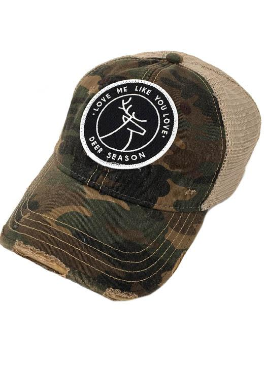 JUDITH MARCH LOVE ME LIKE YOU LOVE DEER SEASON PATCH - CAMO HAT
